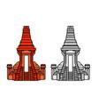 bajang ratu gate temple vector image vector image