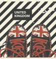 banner with black sneakers and inscription uk vector image