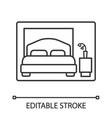 bedroom linear icon