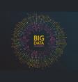 big data visualization concept design vector image