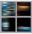 Blurred Striped Backgrounds Set vector image