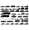 Car icons set Linear style vector image vector image
