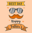 card best dad for father day vector image vector image