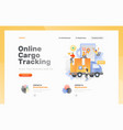 cargo tracking web page vector image