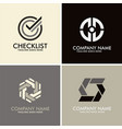 checklist abstract circle logos vector image vector image