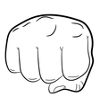 clenched fist front view on white background vector image vector image