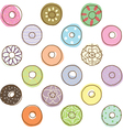 Colorful Donuts vector image vector image