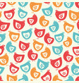 colorful hen chicks seamless repeat pattern vector image