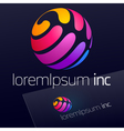 Colorful logo for Business Technology and Media vector image vector image