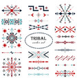 colorful traditional brush set in tribal vector image vector image