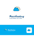 creative clouds logo design flat color logo place vector image vector image