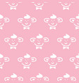 cute basimple character seamless pattern vector image vector image