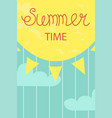 cute poster of summertime vector image vector image