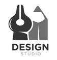 design studio icon template of pen tip and vector image