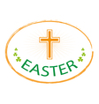 easter day stamp style with cross vector image vector image