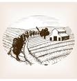 Farm landscape sketch style vector image vector image
