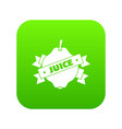 fruit juice icon green vector image
