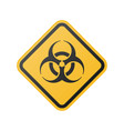 glossy biohazard sign vector image vector image