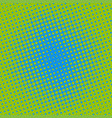 halftone dots on green background vector image vector image