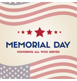 happy memorial day papper banner vector image vector image