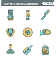 Icons line set premium quality of car parts repair vector image vector image