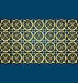 islamic pattern ramadan backgorund gold material vector image