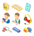 Learning foreign languages icons set cartoon style vector image vector image