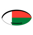 madagascar flag rugby ball vector image vector image