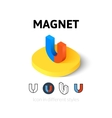 Magnet icon in different style vector image vector image