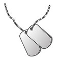 military dog tags vector image vector image