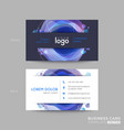 modern dark blue business card design with vector image