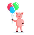 piglet coming with balls vector image