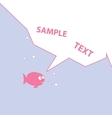 Pink Cartoon Fish vector image