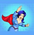 pop art superwoman vector image