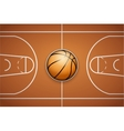 Poster Template of Basketball Ball and field vector image vector image