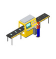 production line of factory vector image vector image