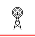 radio tower icon for web or mobile app vector image vector image