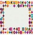 Retro style decorative border vector image vector image