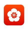 rose of sharon korean flower icon digital red vector image vector image