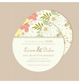 round wedding invitation card vector image vector image