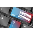saving money for investment with a button on vector image vector image