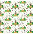 seamless pattern of garden vector image