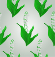 Seamless texture Lily of the Valley spring flower vector image