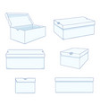 set cartoon white shoe boxes vector image vector image