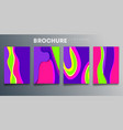 set colorful cover template design for vector image