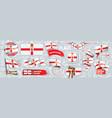 set national flag northern vector image