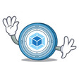 waving webpack coin character cartoon vector image vector image