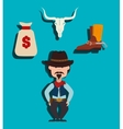 Wild west culture vector image vector image