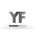 yf y f lines letter design with creative elegant vector image