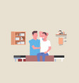 young man sitting on table professional masseur vector image